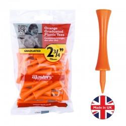 """Plastic Graduated Tees 2 ¾"""" x 20 Orange"""
