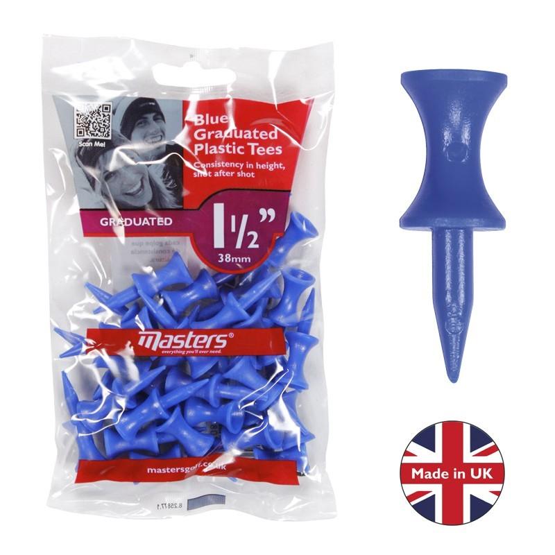 """Plastic Graduated Tees 1 ½"""" x 30 Blue"""