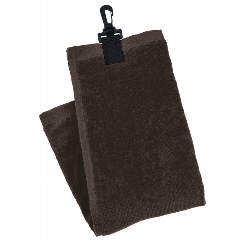 Black 3 Fold Golf Towel