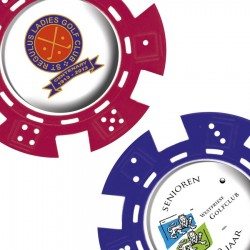 Poker Chip With Dome 3D Decal + Logo
