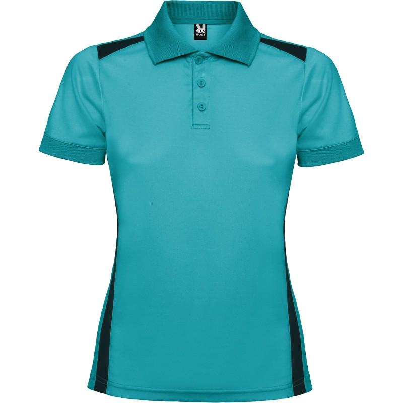 Polo Técnico Golf Lady PAR Turquesa/Marino