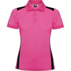 Polo Técnico Golf Lady PAR Rosa/Negro