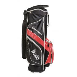 """Bolsa de Carro Boston Golf JAVA 9"""" negro-rojo"""